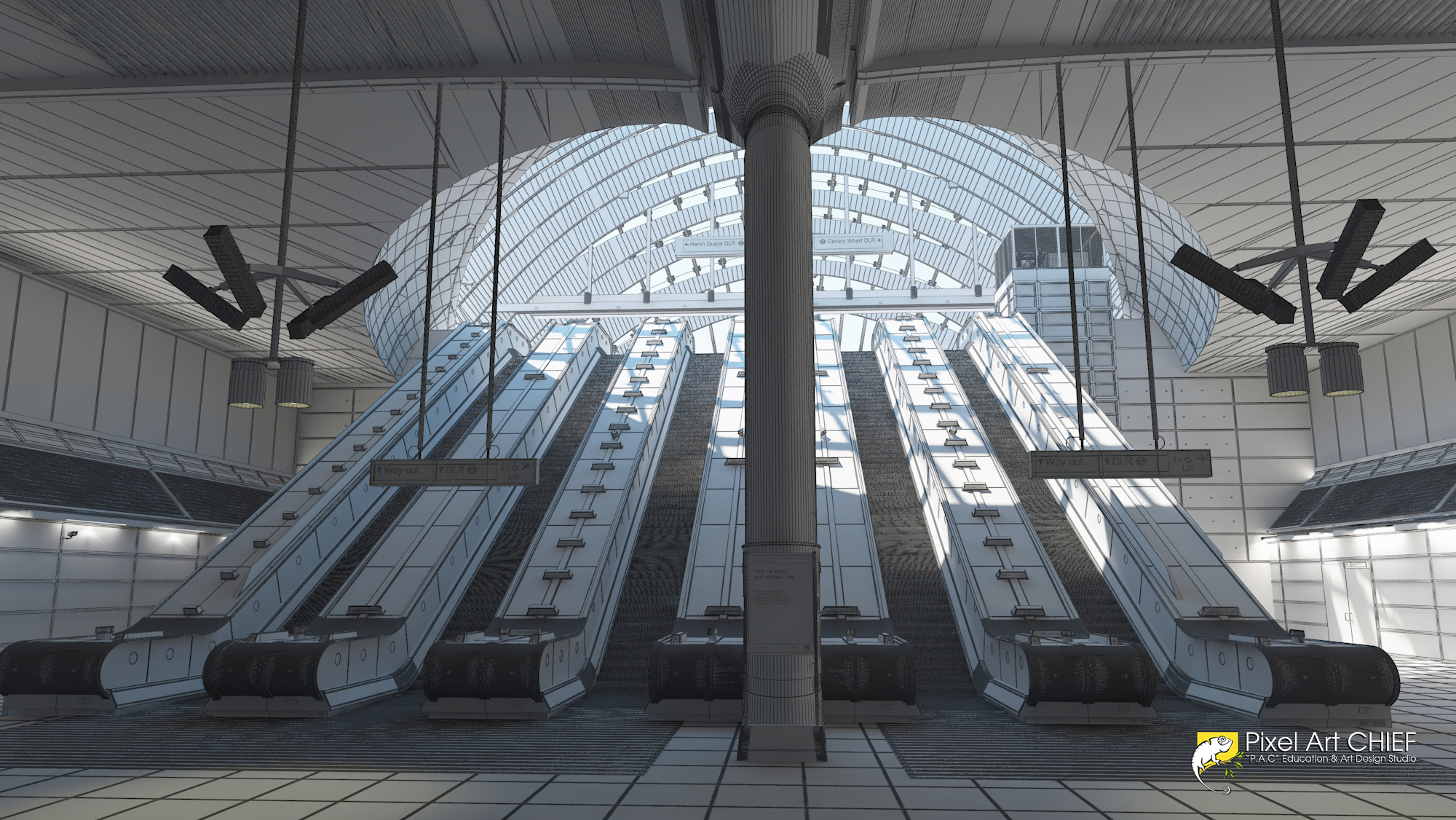 Canary Wharf Station / London